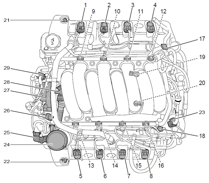 1987 ford mustang fuel filter location