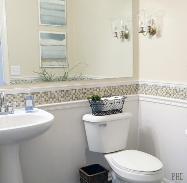 Black Beadboard Wallpaper Chair Rail Molding Ideas For The Bathroom Renocompare