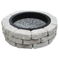 """PERMACON - """"Beltis"""" Fire Pit Kit - Grey Charcoal   Rno-Dpt"""