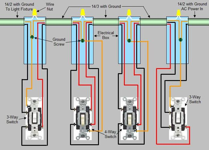 4 Way Switch Wiring Diagram Light Middle - Wwwcaseistore \u2022