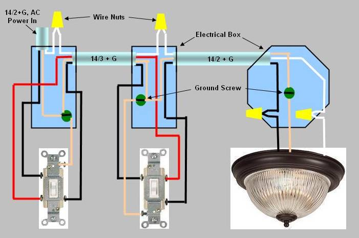 3-Way Switch Installation - Circuit Style 3