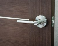 Saturn Modern Door Handle Lever Set with Push Button Lock ...