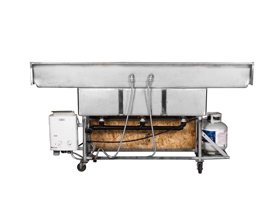 3 Compartment Hot Sink Station Rental Service