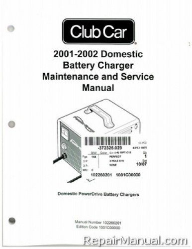 Club Car Battery Chargers Manual - Best Charger Photos