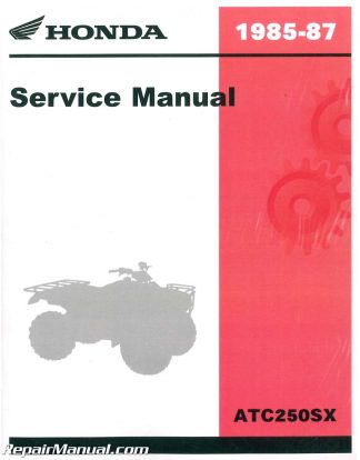 1985 1986 1987 Honda ATC250SX ATC Service Manual