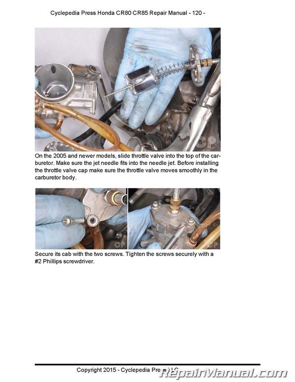 1985 honda cr80 wiring diagram honda cr cr cyclepedia motorcyle