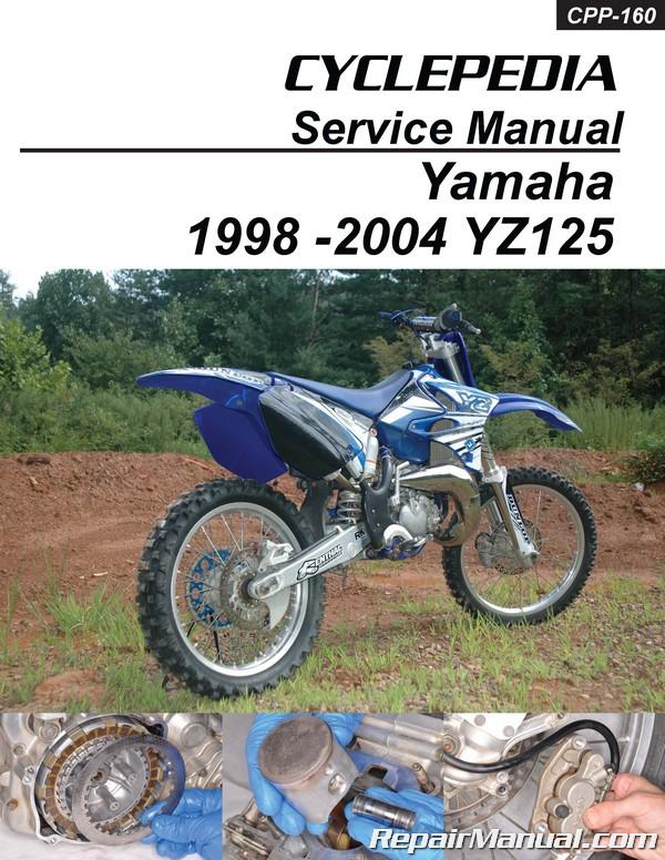 1998-2004 Yamaha YZ125 Cyclepedia Printed Motorcycle Service Manual