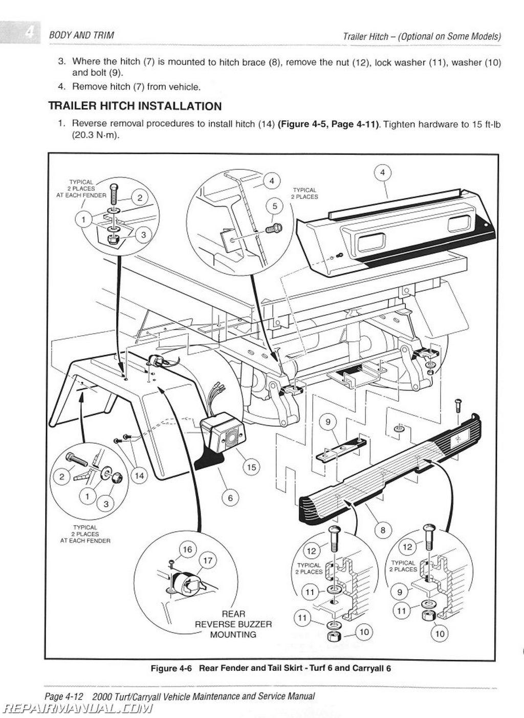 2000 club car wiring diagram gas