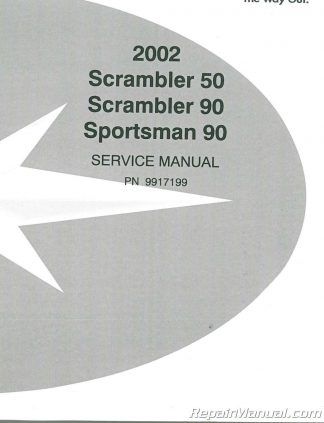 Polaris 50cc 90cc Scrambler ATV Print Service Manual By Cyclepedia
