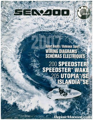 2007 Sea-Doo Boat Wiring Diagram 200 Speedster Speedster Wake 205