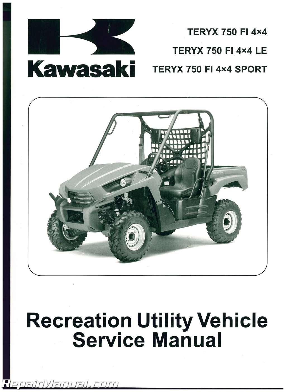 kawasaki teryx service manuals