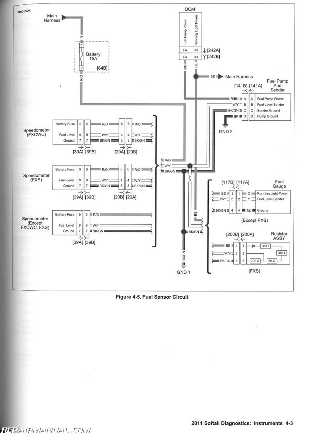 Harley 6 Pole Wiring Diagram 2011 Harley Davidson Softail Motorcycle Electrical
