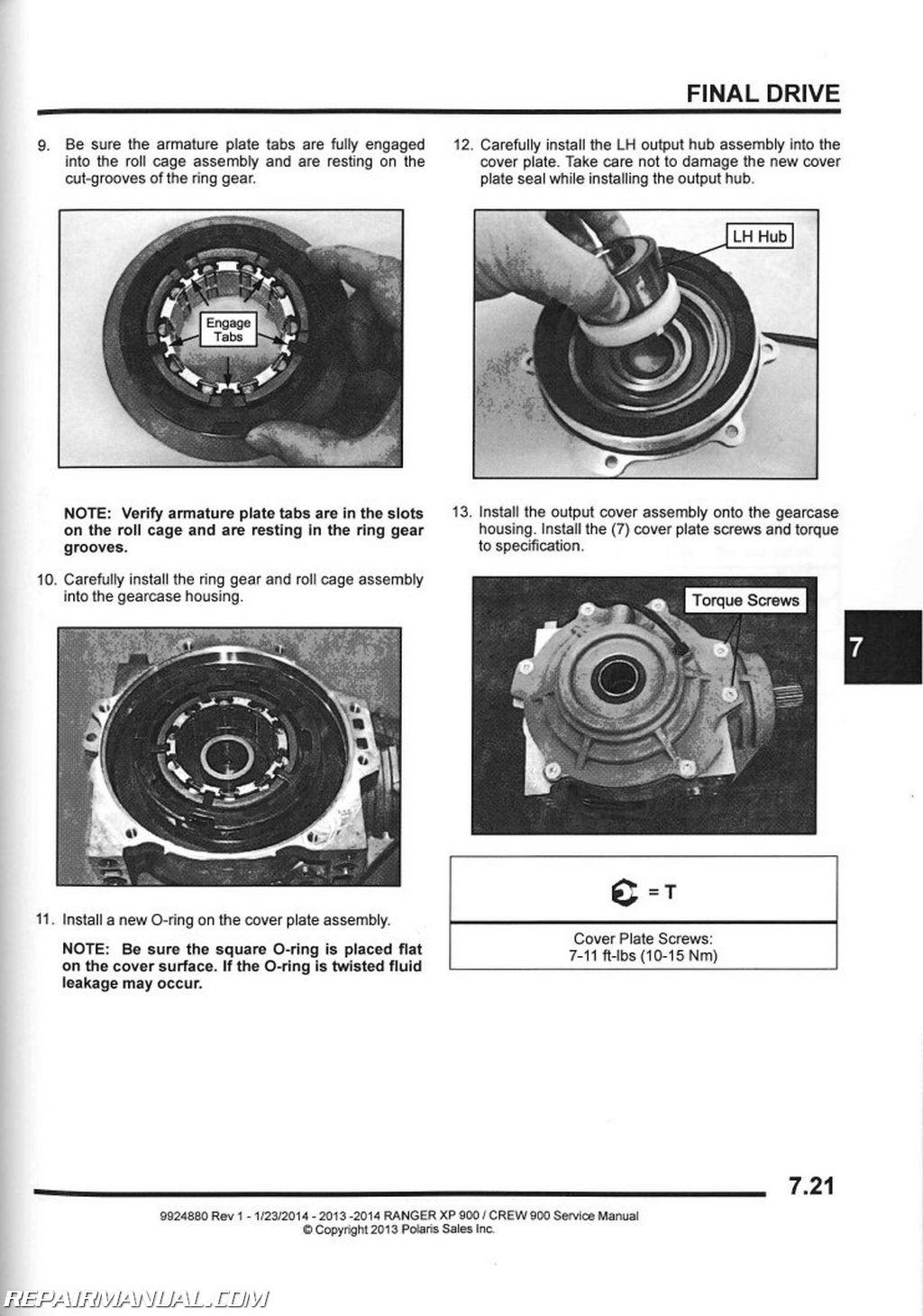 2013 polaris service manuals