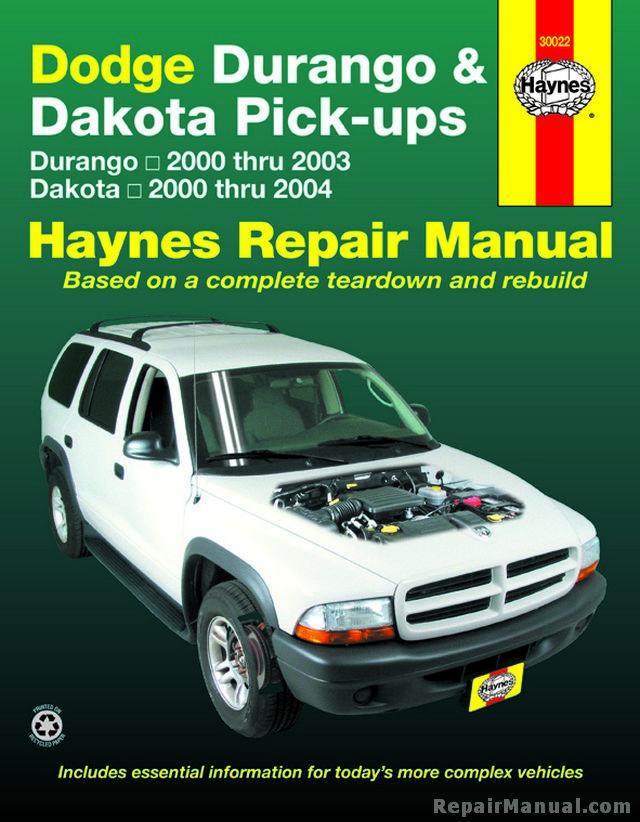 dodge durango 2000 service repair manual