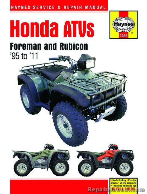 Haynes Honda Foreman TRX400 TRX450 Rubicon TRX500 1995
