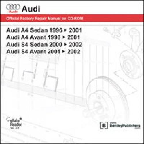 Audi A4 S4 1996-2002 Repair Manual on DVD-ROM