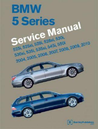 BMW 5 Series E60 E61 Printed Service Manual 2004-2010 - Two Volume Set