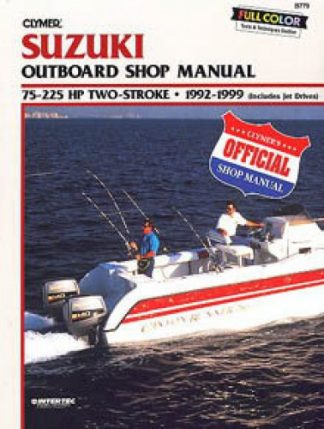 Used 1992-1999 Suzuki 2-65hp Two Stroke Outboard Repair Manual by Clymer