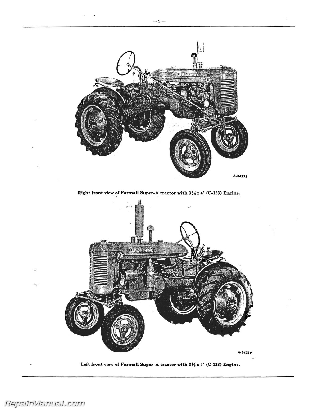 farmall tractor engine parts