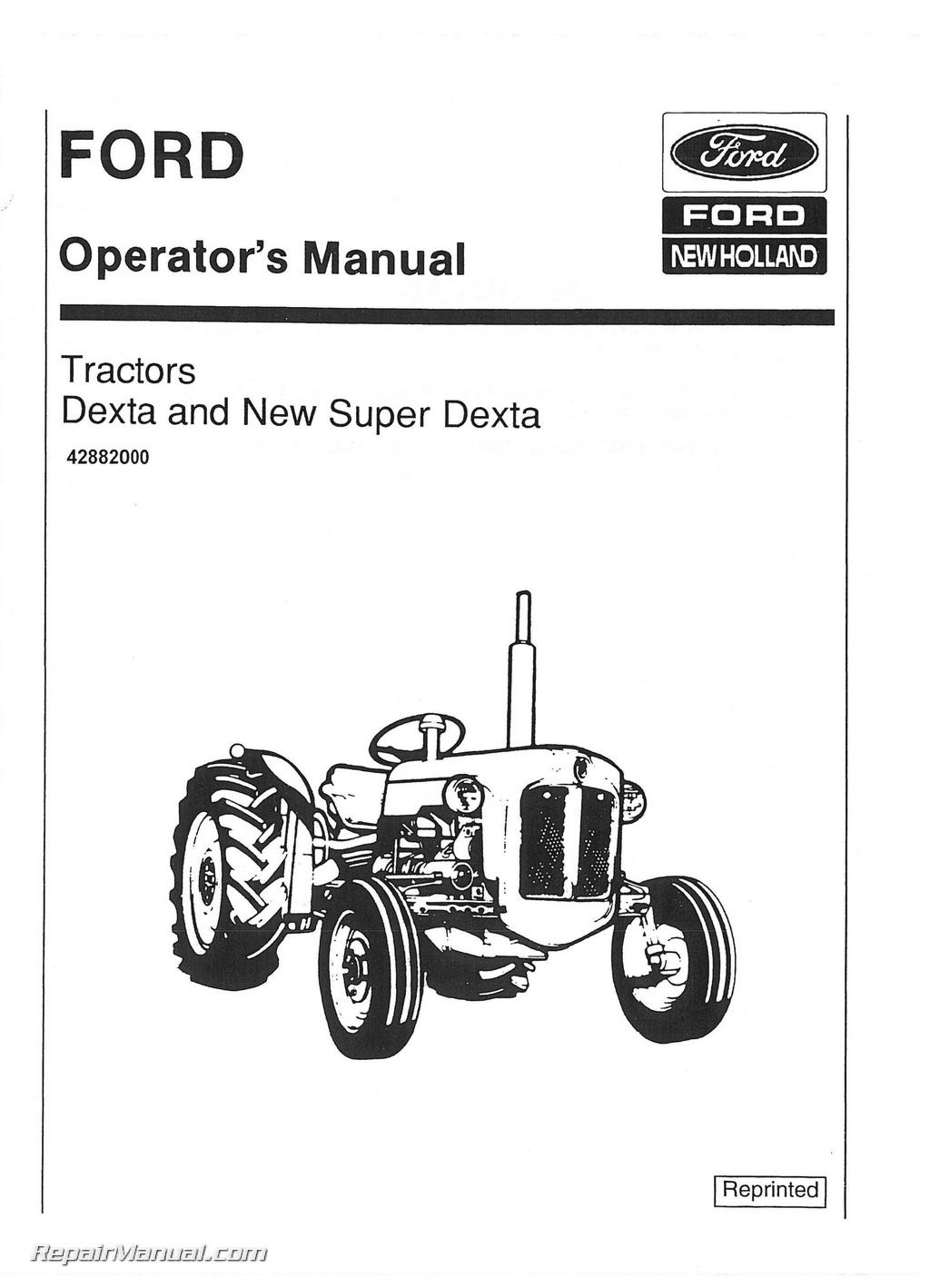ford dexta manual