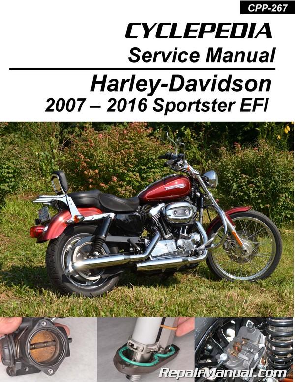 Harley-Davidson XL883 XL1200 Sportster EFI Cyclepedia Printed