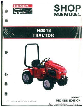 Honda H5518 Lawn Tractor Shop Manual