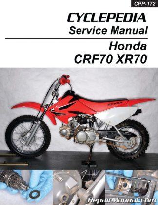 Cyclepedia Honda XR70 CRF70 Motorcycle Printed Service Manual