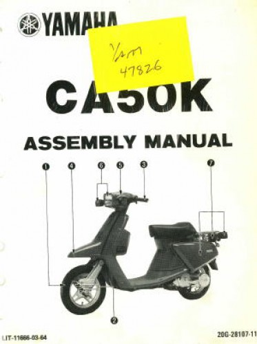 Yamaha Riva Scooter Manual Wiring Schematic Diagram