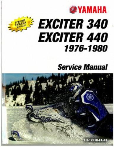1976-1980 Yamaha Exciter Manual EX340 EX440 Snowmobile Repair