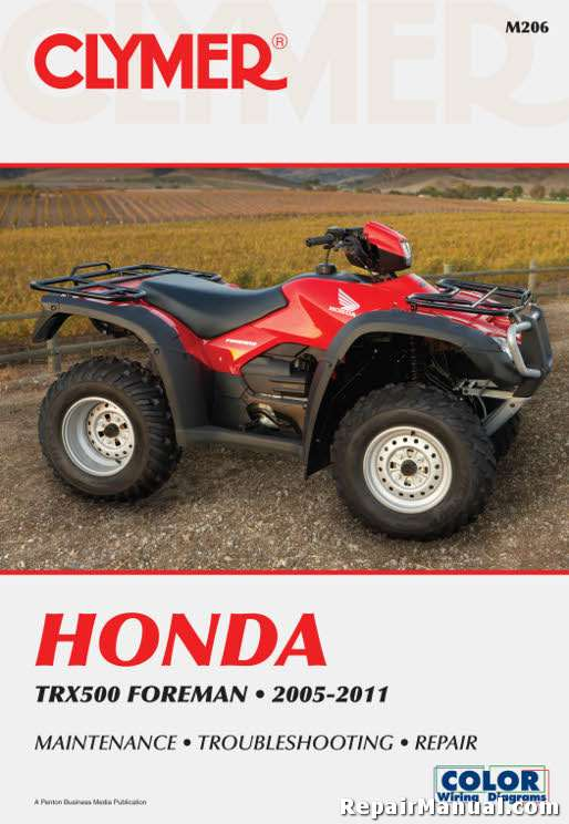 TRX500 Foreman 2005-2011 Honda ATV Service Repair Manual by Clymer