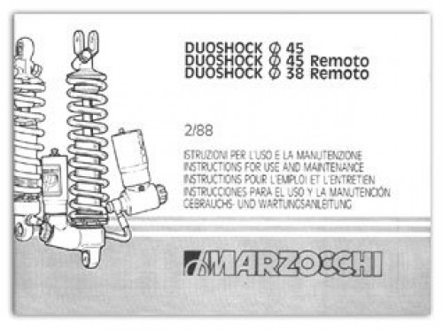 KTM Marzocchi Duoshock 45 38 Remoto Shock Instruction Manual - instruction manual