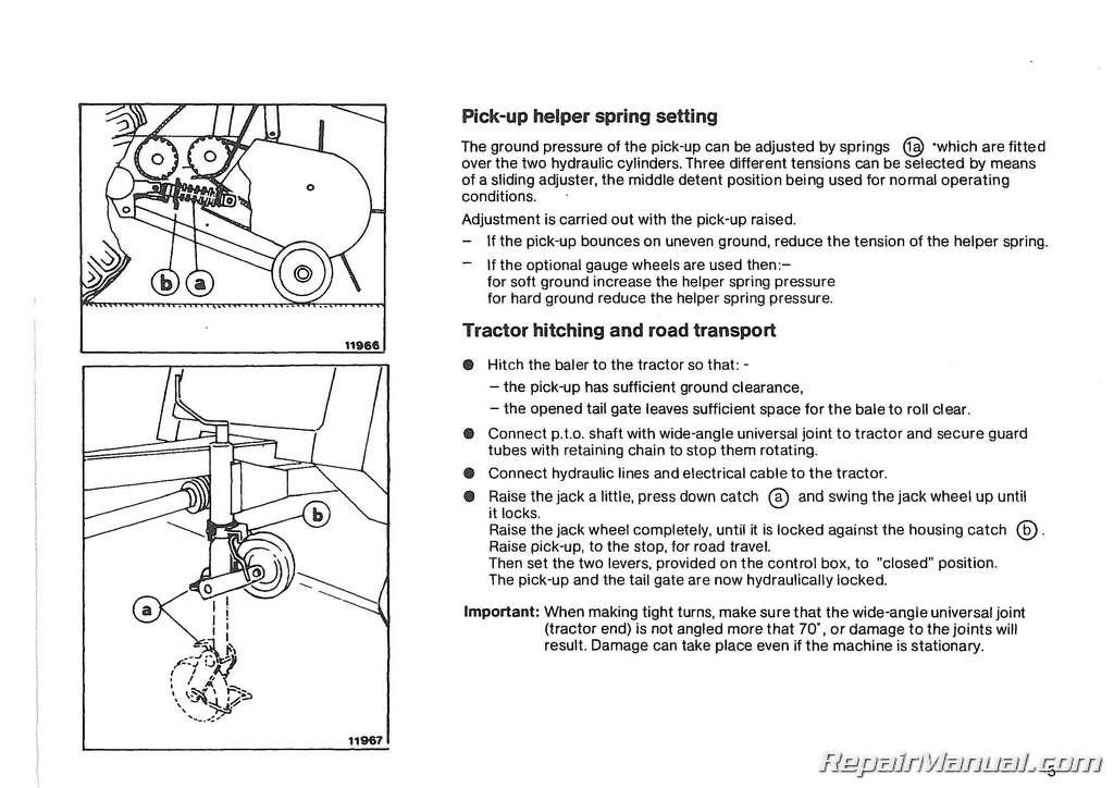 USED Deutz Allis Round Baler Manual GP 23 25 Operation Manual