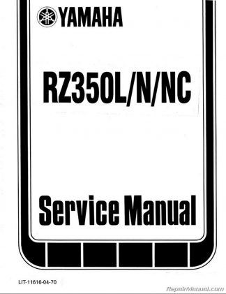 1984 - 1985 Yamaha RZ350 Manual Motorcycle Service