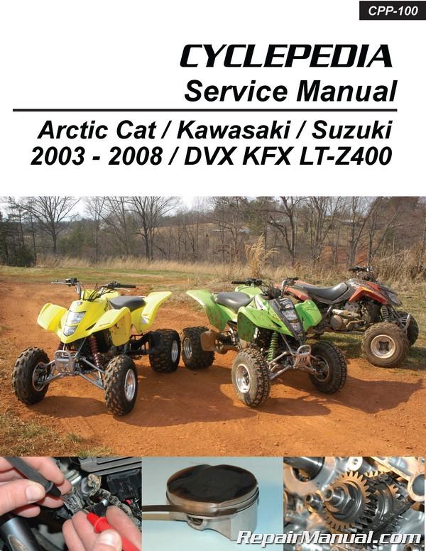 Suzuki Kawasaki DVX400 KFX400 LT-Z400 Cyclepedia Printed ATV