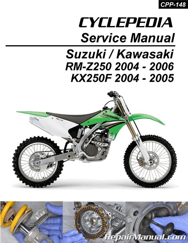 Suzuki RM-Z250 Kawasaki KX250F Cyclepedia Printed Motorcycle Service