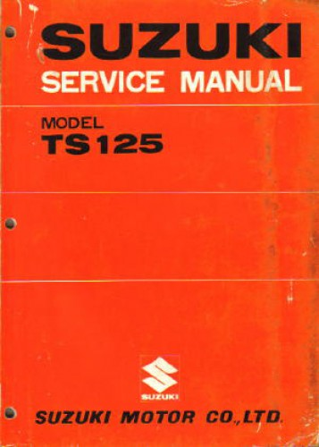 100 Base T Wiring Diagram 1971 1977 Suzuki Ts125 Motorcycle Repair Service Manual