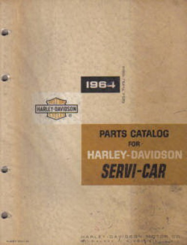 Harley-Davidson 45 Servi-Car Trike Parts Manual 1954-1964