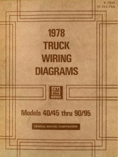 GMC Truck Wiring Diagrams Manual 1978 Used