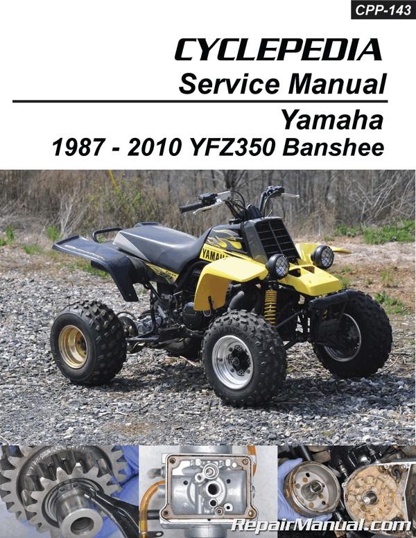 Yamaha YZF350 Banshee Cyclepedia Printed ATV Service Manual eBay