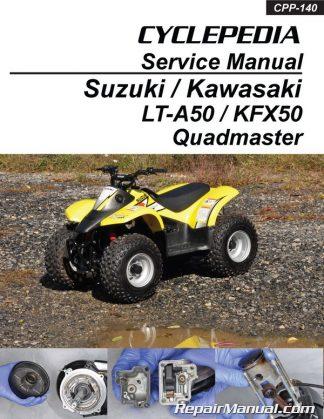 Suzuki LT-A50 Quadmaster Kawasaki KFX50 ATV Printed Service Manual