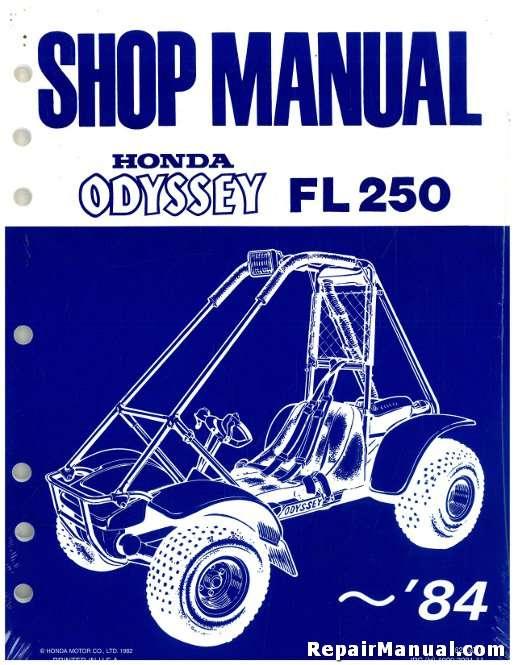 1977-1984 FL250 Honda Odyssey Service Manual