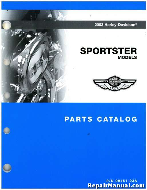 2003 Harley Davidson XL XLH Sportster Motorcycle Parts Manual
