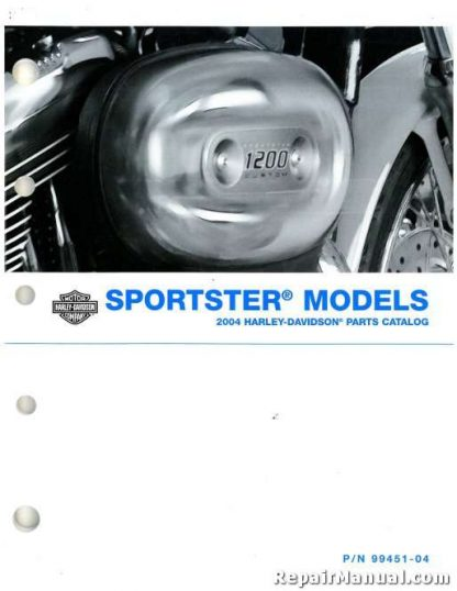 2004 Harley Davidson XL Sportster Motorcycle Parts Manual