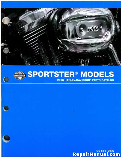 2008 Harley Davidson XL Sportster Motorcycle Parts Manual