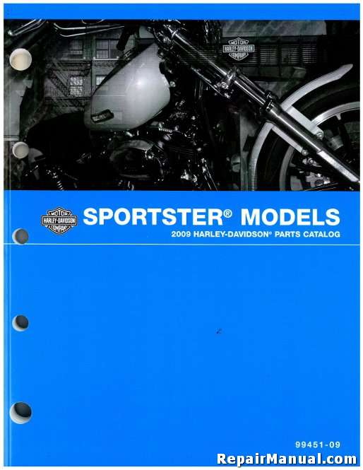 2009 Harley Davidson Sportster XL Motorcycle Parts Manual