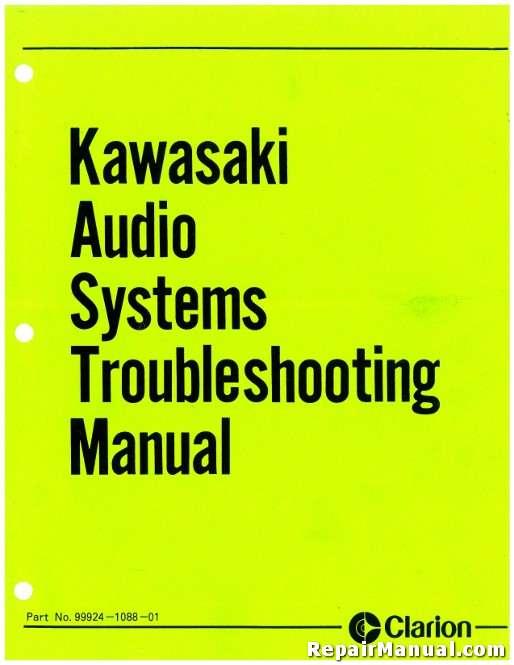 Kawasaki Voyager Clarion Audio Systems Troubleshooting Manual
