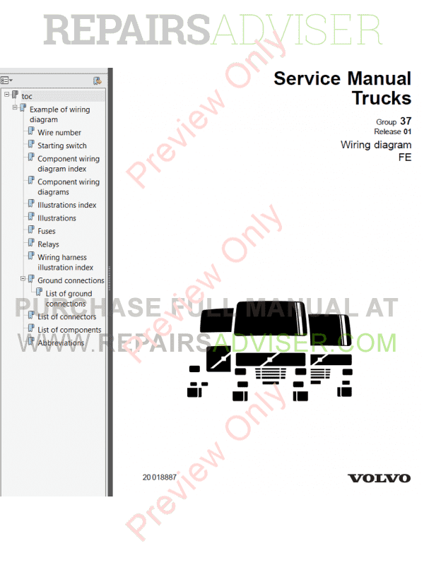 service volvo trucks wiring diagrams