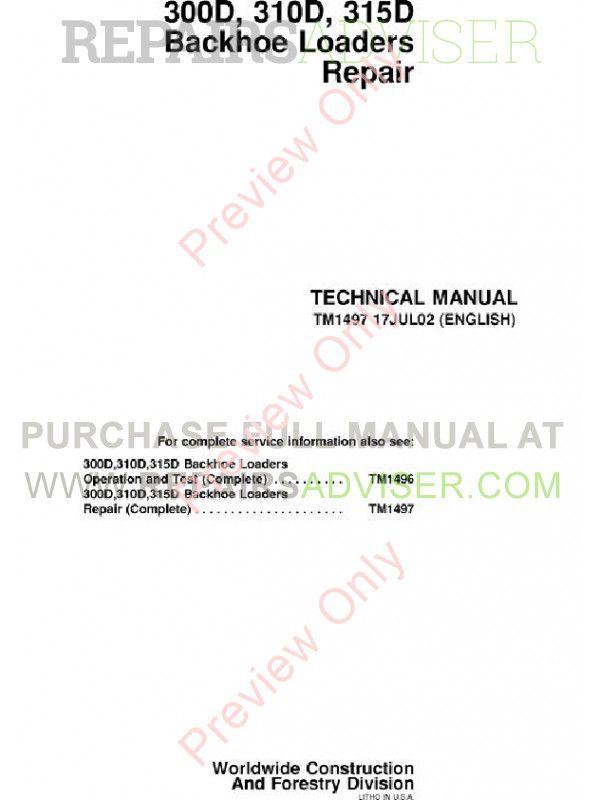 John Deere 410 Backhoe Service Manual Affordable Repair Manual John