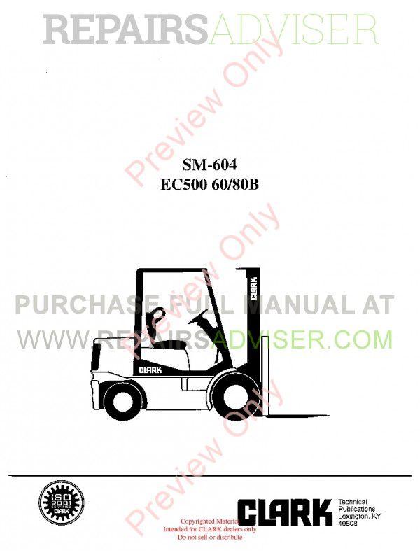 Schaltplang hydraulic clark forklift manuals epc