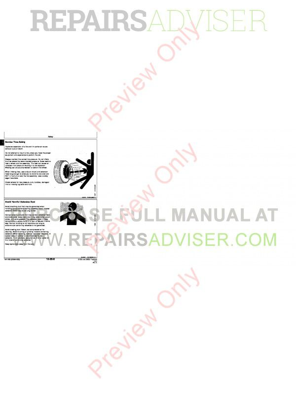 John Deere 5105 and 5205 Tractors Technical Manual TM-1792 PDF Download